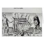 Cocinar pescados tarjeta de felicitación