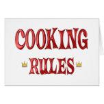 Cocinar reglas felicitación