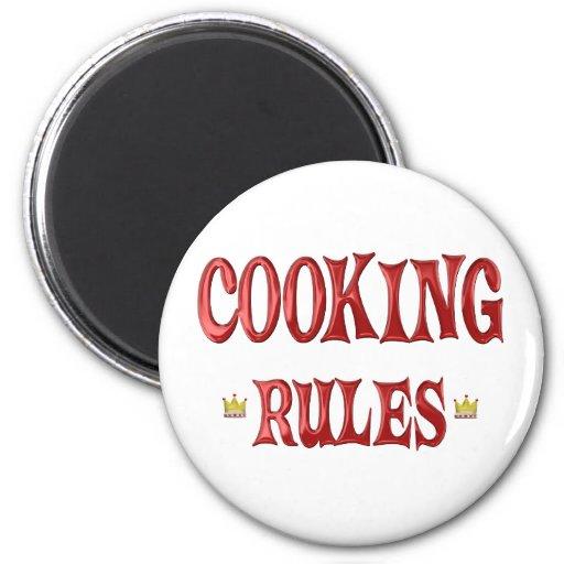 Cocinar reglas imanes