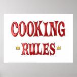 Cocinar reglas poster