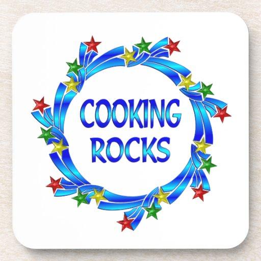 Cocinar rocas posavasos de bebida