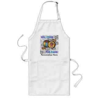 ¡Cocinará para el efectivo! Delantal Largo