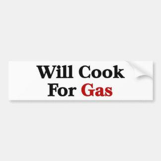Cocinará para el gas etiqueta de parachoque
