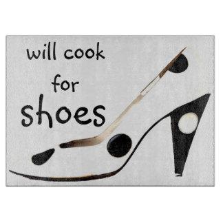 Cocinará para la diva de los zapatos tabla para cortar