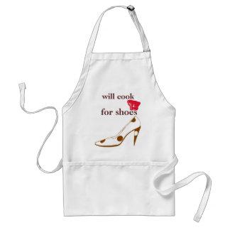 Cocinará para los tacones altos lindos delantal