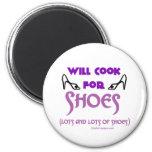 Cocinará para los zapatos imán para frigorífico