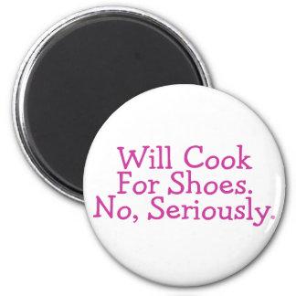 Cocinará para los zapatos ningunos seriamente imán redondo 5 cm