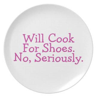 Cocinará para los zapatos plato