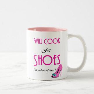 Cocinará para los zapatos taza dos tonos