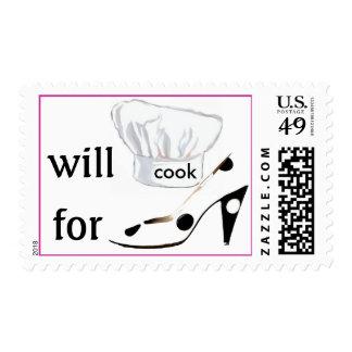 Cocinará para los zapatos timbres postales
