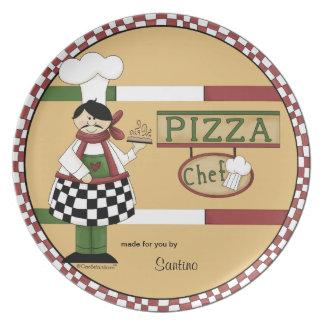 Cocinero adaptable de la pizza plato de comida