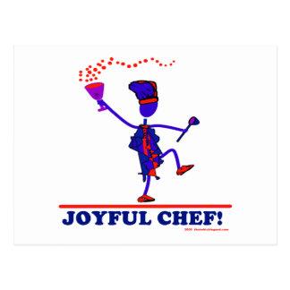 Cocinero alegre postal