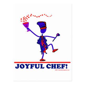 Cocinero alegre postales