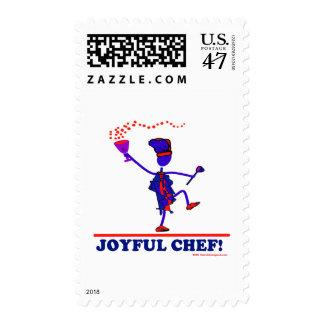 Cocinero alegre sellos