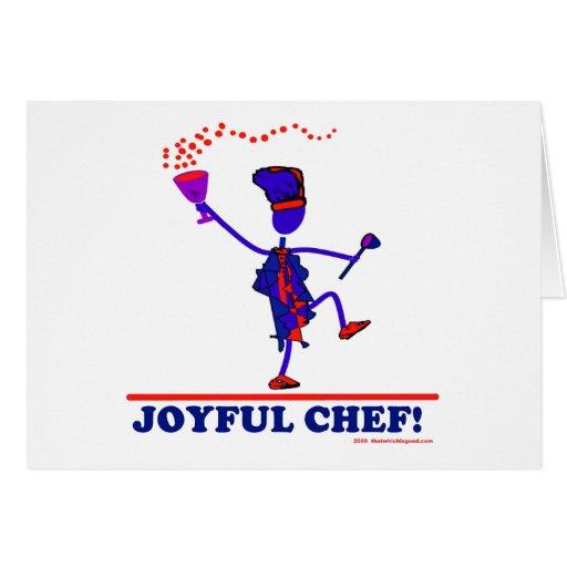 Cocinero alegre tarjeta