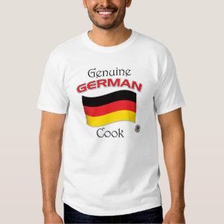 Cocinero alemán auténtico playeras
