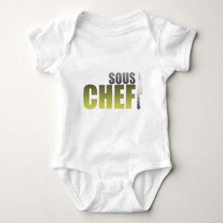 Cocinero amarillo de Sous Body Para Bebé