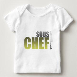 Cocinero amarillo de Sous Playera De Bebé