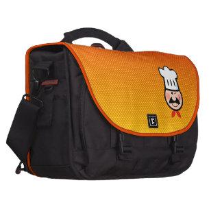 Cocinero amarillo-naranja bolsa para ordenador