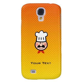 Cocinero amarillo-naranja funda para galaxy s4