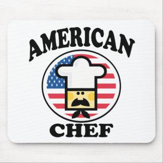 Cocinero americano alfombrillas de raton