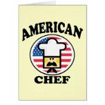Cocinero americano tarjetón