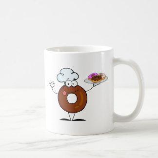 Cocinero amistoso del buñuelo taza