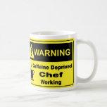 Cocinero amonestador del cafeína taza