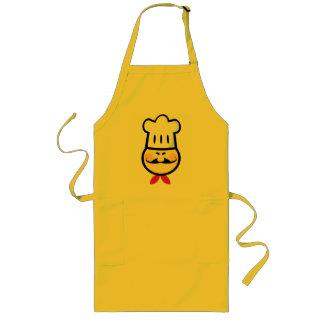 Cocinero asiático delantal largo
