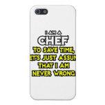 Cocinero. Asuma que nunca soy incorrecto iPhone 5 Cárcasa