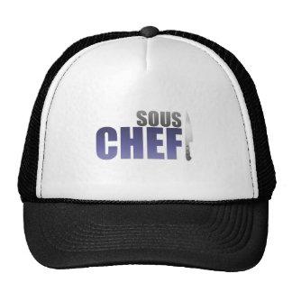 Cocinero azul de Sous Gorro De Camionero