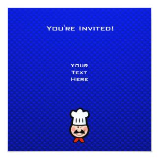 """Cocinero; Azul Invitación 5.25"""" X 5.25"""""""
