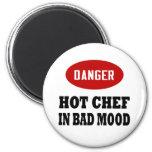 Cocinero caliente divertido iman de frigorífico