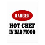 Cocinero caliente divertido postales