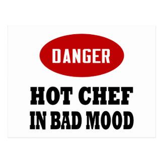 Cocinero caliente divertido postal