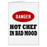 Cocinero caliente divertido tarjetón