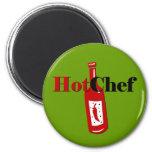 Cocinero caliente imanes para frigoríficos