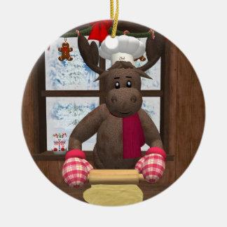 Cocinero caprichoso del reno adorno