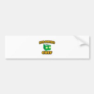 Cocinero Cerveza-Accionado Etiqueta De Parachoque