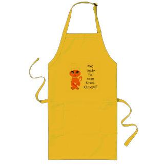 Cocinero chistoso del Griego del Kat del gatito Delantal Largo