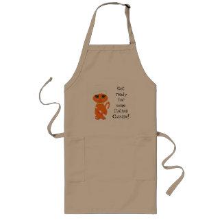 Cocinero chistoso del italiano del Kat del gatito Delantal Largo
