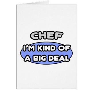 Cocinero. Clase de una gran cosa Tarjeta De Felicitación