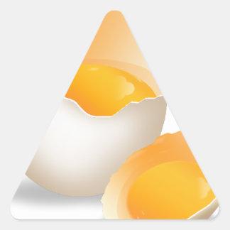 cocinero, cocina-amor pegatina triangular