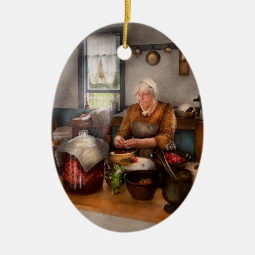 Cocinero - cocina - cerezas de la limpieza ornamento de reyes magos