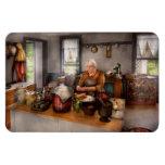 Cocinero - cocina - cerezas de la limpieza iman rectangular