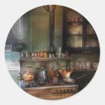 Cocinero - cocina - cocina 1908 pegatinas redondas