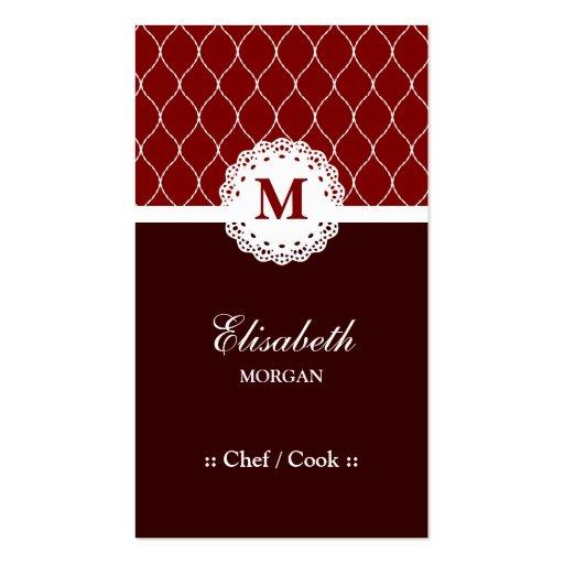 Cocinero/cocinero - modelo elegante del cordón de tarjetas de visita