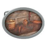Cocinero - comida - equipo para hacer los Latkes Hebilla Cinturón Oval