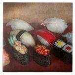 Cocinero - comida - oh, comía el sushi anoche azulejo