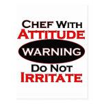 Cocinero con actitud postales